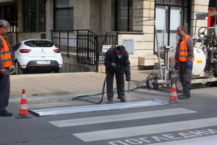 6 пешеходни пътеки в Русе